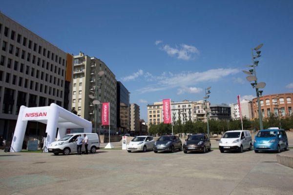 Nissan electrifica Girona en el Zero Emission Tour 2016