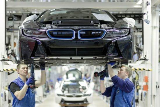 Más detalles del proceso de fabricación del nuevo BMW i8.