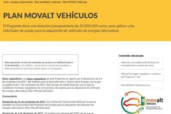 El Plan MOVALT abre la puerta el 13 de diciembre