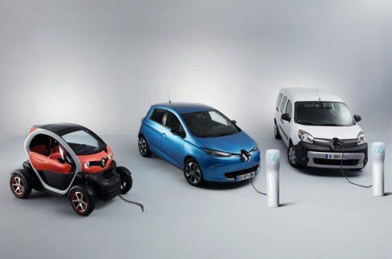 Renault, la marca más eléctrica de 2017 en España