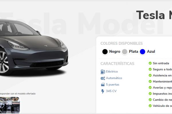 Tesla Model 3 con renting: ¿una buena idea?