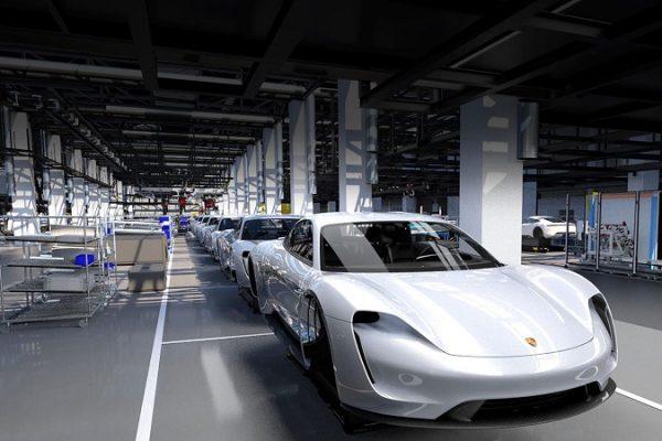 Así es el proceso de producción del Porsche Taycan