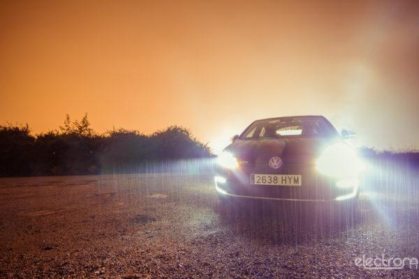 Sesión de fotos nocturnas con el nuevo e-Golf
