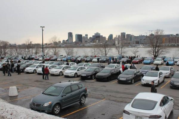 429 vehículos eléctricos en la concentración de Montreal. ¡Nuevo récord mundial!