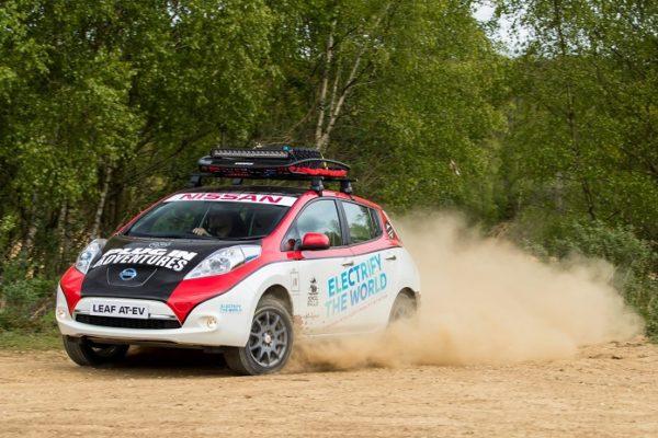 El Nissan LEAF también entiende de Rally