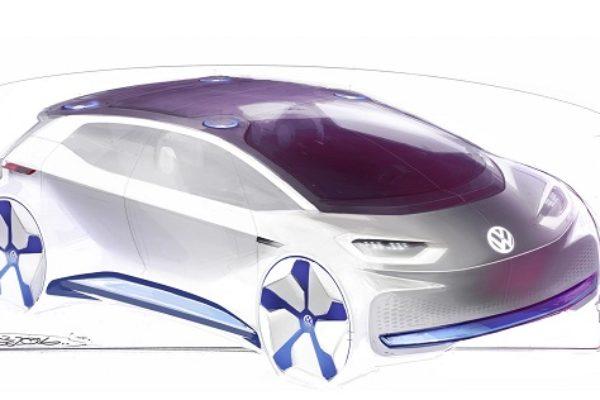 Los esbozos del nuevo coche eléctrico de Volkswagen